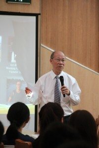 Dr. Ambrose So was invited to speak at the College Master's Welcome Reception for Freshmen 蘇樹輝博士應邀於院長新生見面會上為新生致勉詞