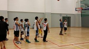 Practice shooting before the game 賽前練習投籃