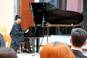 """Wesley Lao (Year 4 Financial Controllership) played """"Dream Wedding"""" and two other improvised piano pieces. 劉永業同學表演了《夢想婚禮》及兩首即興鋼琴作品。"""