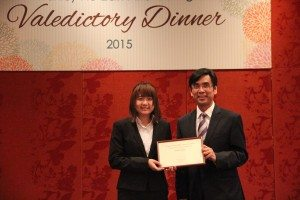 "Ms. Tam Si Teng, Sophie was awarded the ""Collegiality"" Award. 一年級譚斯婷同學榮獲「模範書院生」獎項。"