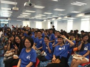 SHEAC student leaders attended the opening session hosted by VR(SA). 學生領袖參加學生事務副校長主持的開幕式。