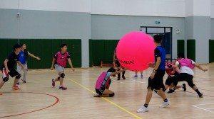 Friendly match with the coaching team 與教練團隊進行友誼賽
