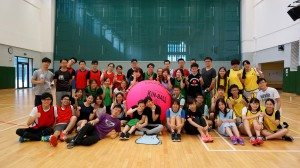Group photo of the SHEAC student leadership team with the Hong Kong Kin-Ball Association President and coach. 健球活動後與香港健球總會教練大合照