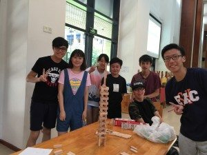 """Tallest Tower"" Team Challenge 砌高塔競賽"