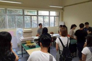 Tour of the facility: Bookbinding Room 參觀圖書裝訂室