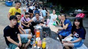 Orientation barbecue gathering at Ha Sac Beach 迎新黑沙燒烤聚會