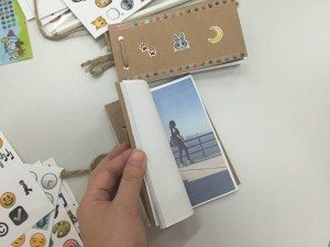 A flipbook finished by one of the participants. 其中一位參與者所製作的手翻書成品。