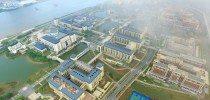 A bird's eye view of the big beautiful campus of the University of Macau. 澳門大學優美校園的鳥瞰圖。
